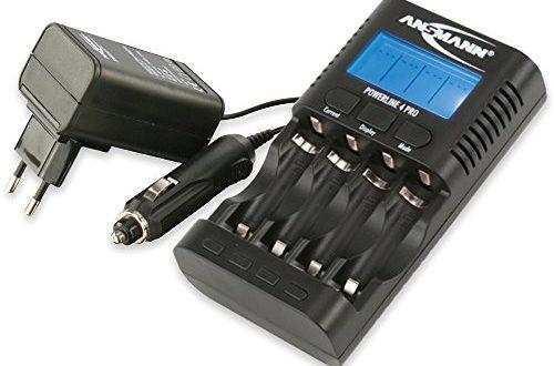 ANSMANN Powerline 4 Pro Akku-Ladegerät für 4x AA/AAA + USB (Entladefunktion, individueller Ladestrom, Kapazität messen)