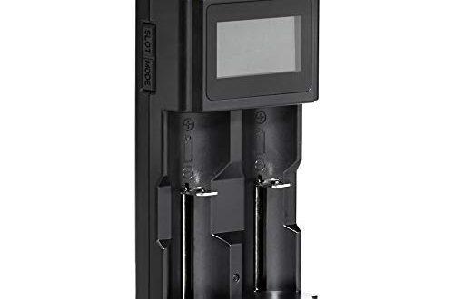 AmazonBasics Intelligentes, digitales Akku-Ladegerät für 2 Akkubatterien
