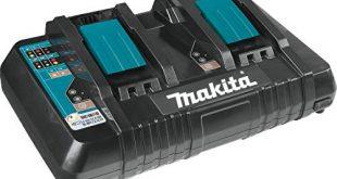 Makita DC18RD Akku-Ladegerät, (0,5h, 0,75h, 2,25kg) für Li-Ionen-Akkus, Schwarz-Blau