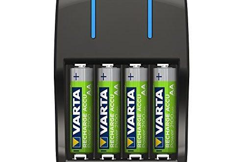 Varta Plug Ladegerät lädt 2 oder 4 Mignon (AA) oder Micro (AAA) rechargeable Ni-MH Akkus (zur gleichen Zeit, Design kann abweichen)
